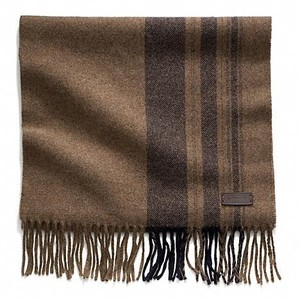 WOOL VARIEGATED TICKING STRIPE SCARF